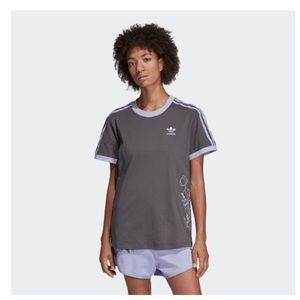 Adidas 3 Stripes Charcoal Embroidered Tee - NWT